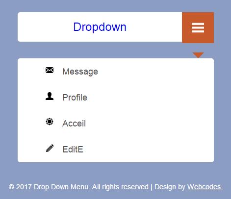 Drop Down Menu Responsive