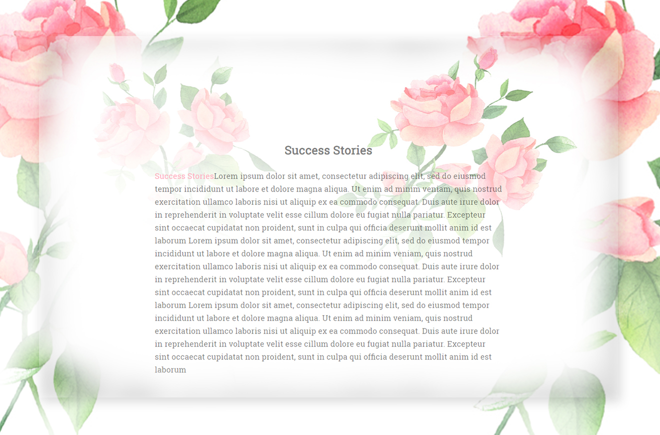 Success Stories Page
